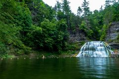 Robert H. Treman State Park: Lower Fals stock photos
