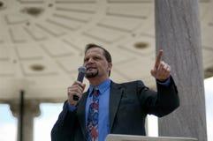 Robert Hedlund. Boston, Massachusetts USA - April 2013 -  Robert Hedlund speaking at Boston Tea Party rally on the Boston Common Stock Photo