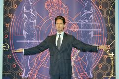 Robert John Downey Jr Wax Figure arkivbild