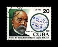 Robert Koch, scienziato di tubercolosi, esploratore, bacillo tubercolare scopritore, Cuba, circa 1982, immagine stock libera da diritti