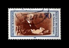 Robert Koch, scienziato di tubercolosi, esploratore, bacillo tubercolare scopritore, Germania, circa 1982, immagine stock