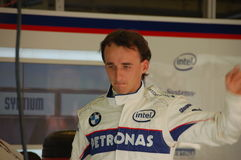 Robert Kubica. On Hungaroring, Hungarian GP on 31st August, 2008 Stock Image
