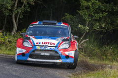 Robert Kubica at ADAC Rally Deutschland 2014 Royalty Free Stock Photos