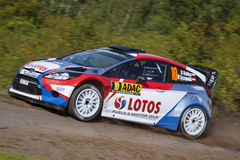 Robert Kubica at ADAC Rally Deutschland 2014 Royalty Free Stock Image