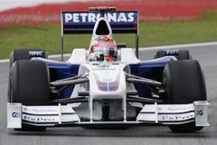 ROBERT KUBICA VAN het TEAM 2009 van BMW F1 royalty-vrije stock afbeelding