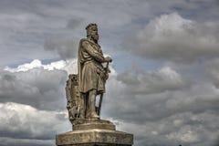 Robert la statua di Bruce a Stirling Immagine Stock