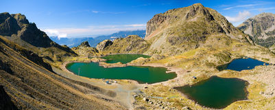 Robert lakes in alps. Mountain lakes in Alps near Grenoble, altitude approx. 2100 m Royalty Free Stock Images