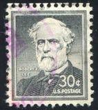 Robert Lee. UNITED STATES - CIRCA 1953: stamp printed by United states, shows Robert E. Lee, circa 1953 Stock Photography