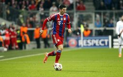ROBERT LEWANDOWSKI BAYERN MUNICH Royalty Free Stock Photo