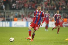 ROBERT LEWANDOWSKI BAYERN MUNICH Stock Image