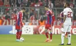 Robert Lewandowski and Mario GötzeBayern Munich v AS Rome Champion League Stock Photos