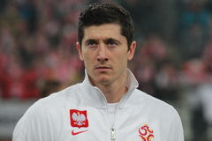 Robert Lewandowski royalty free stock photo