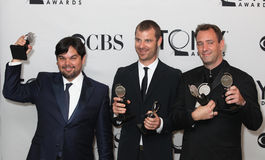 Robert Lopez, Matt-Stein und Trey Parker Stockfoto