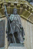 Robert the magnificent. The Dukes of Normandy on the pedestal of the statue of William the Conqueror in Falaise Normandy Stock Image