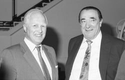 Robert Maxwell and Winston Churchill Royalty Free Stock Photography