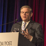 Robert Menendez. U.S. Senator Robert Menendez of New Jersey, attends The Jerusalem Post Annual Conference at the Marriott Marquis Hotel in New York City on April royalty free stock images