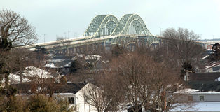 Robert Mosses-Brücken genommen von oben stockbilder