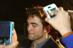 Robert Pattinson. Robert with his fans in Hollywood Royalty Free Stock Photo