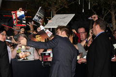 Robert Pattinson. LOS ANGELES - NOV 14:  Robert Pattinson arrives at the Twilight: Breaking Dawn Part 1 World Premiere at Nokia Theater at LA LIve on November 14 Royalty Free Stock Photo