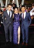 Robert Pattinson, Kristen Stewart and Taylor Lautner Stock Image