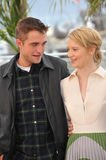 Robert Pattinson & Mia Wasikowska. CANNES, FRANCE - MAY 19, 2014: Robert Pattinson & Mia Wasikowska at the photocall for their movie Maps to the Stars at the Stock Images