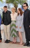 Robert Pattinson & Mia Wasikowska & Julianne Moore & John Cusack. CANNES, FRANCE - MAY 19, 2014: LtoR: Robert Pattinson, Mia Wasikowska, Julianne Moore & John Stock Photos