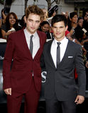 Robert Pattinson and Taylor Lautner Stock Image