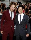 Robert Pattinson and Taylor Lautner Stock Photo