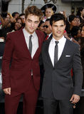 Robert Pattinson and Taylor Lautner Stock Images