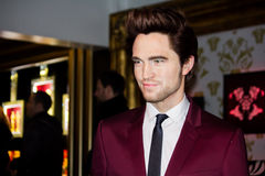 Robert Pattinson. Wax figure at the Madame Tussaud's Museum in London Royalty Free Stock Image