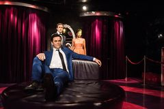 Robbie Williams, wax sculpture, Madame Tussaud stock images