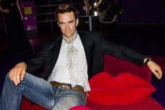 Robbie Williams wax figure, Madame Tussaud`s Museum, Vienna stock images