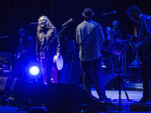 Robert Plant et le Spaceshifters sensationnel Photo libre de droits