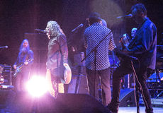 Robert Plant et le Spaceshifters sensationnel Photos libres de droits