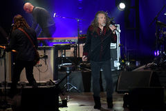 Robert Plant. Famous English singer Robert Plant during his performance in Pilsen, Czech republic, July 27, 2016 royalty free stock photos