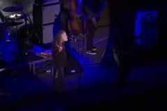 Robert Plant koncert przy Antycznym teatrem Taormina na Lipu 24th 2016 obraz royalty free