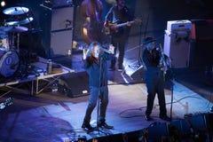 Robert Plant konsert på den forntida teatern av Taormina på Juli 24th 2016 royaltyfri bild