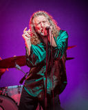 Robert Plant. Plays an outdoor live concert as  AND THE SENSATIONAL SPACE SHIFTERS Stock Photography
