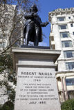 Robert Raikes Statue in London Stock Photos