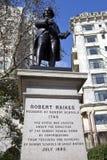 Robert Raikes Statue in London Stock Photos