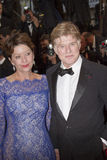 Robert Redford and Sibylle Szaggars Stock Photos