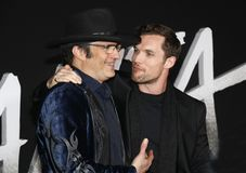 Robert Rodriguez and Ed Skrein stock image