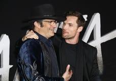 Robert Rodriguez en ED Skrein stock afbeelding