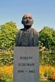 Robert Schuman-Statue Stockbilder