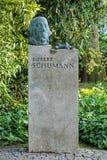 Robert Schumann Monument in Dusseldorf, Germany Royalty Free Stock Photos