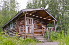 Robert Service-` s Kabine in Dawson City Stockfotografie