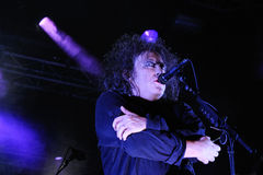 Robert Smith, singer of The Cure band, performs at San Miguel Primavera Sound Stock Photos