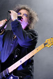 Robert Smith, singer and guitarist of the legendary rock band The Cure Royalty Free Stock Photography