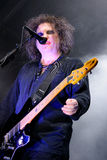 Robert Smith, singer and guitarist of the legendary rock band The Cure performs at San Miguel Primavera Sound Festival. BARCELONA - JUNE 1: Robert Smith, singer stock image