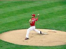 Robert Stephenson fa il suo Major League Baseball Debut fotografie stock